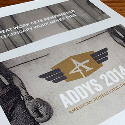AAF<br>Addy Awards<br><h4>Event Collateral</h4>