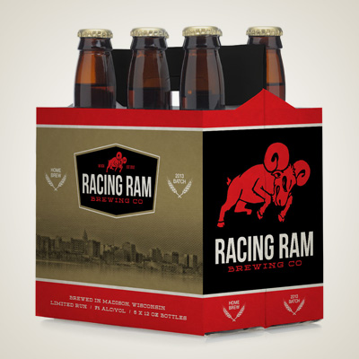 Racing Ram<br>Brewing Co.<br><h4>Packaging</h4>
