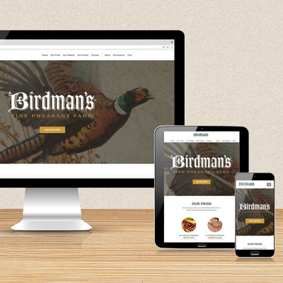 Birdman's Fine<br>Pheasant Fare<br><h4>Website Design</h4>